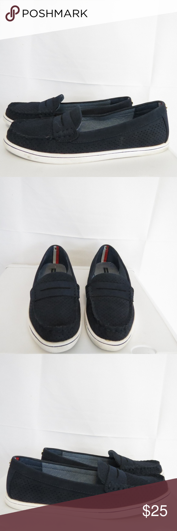 ccbaa49a420831 Tommy Hilfiger Women s 6.5M Penny Loafers Navy Tommy Hilfiger Women s 6.5M  Penny Loafers Navy