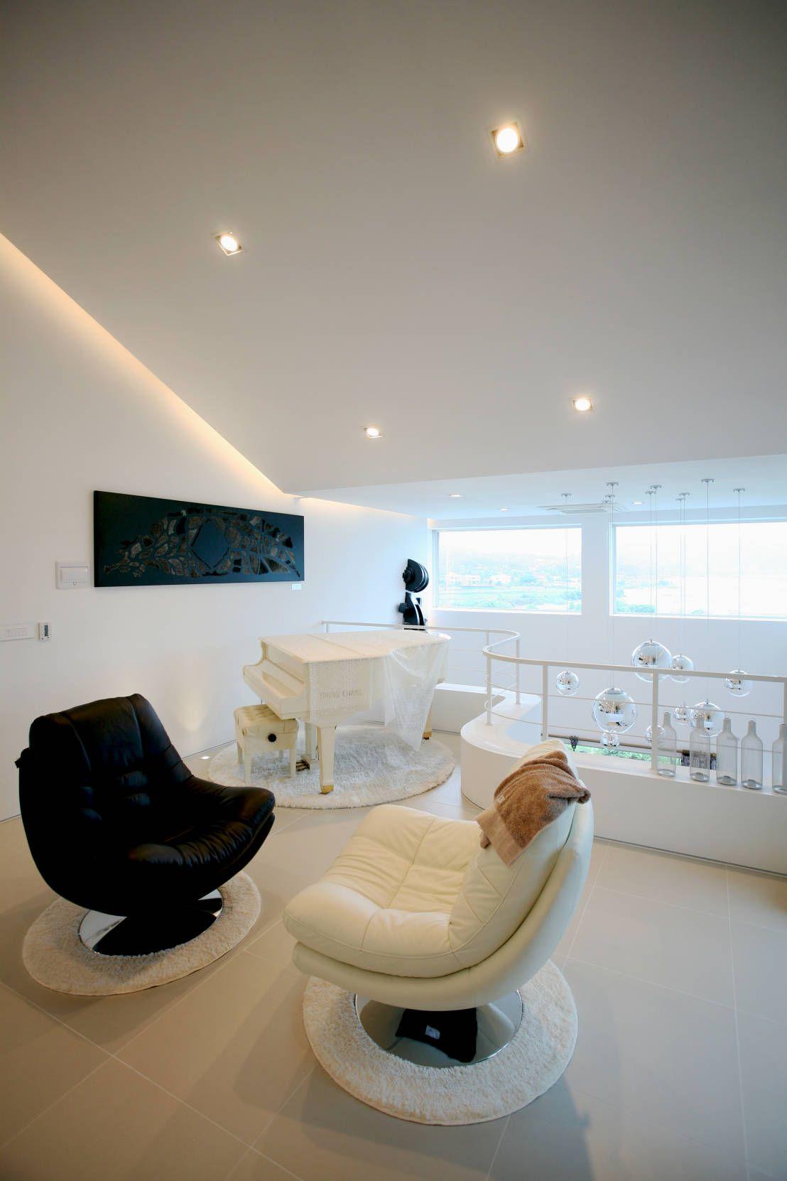 Abgefahrene Ideen für ein Wohnzimmer in schwarz-weiß   Einfache ...