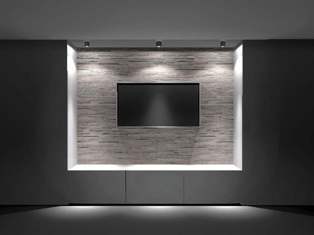 De Alouette - Digi - Touch als materiaal verwerkt in een ontwerp voor een televisiewand