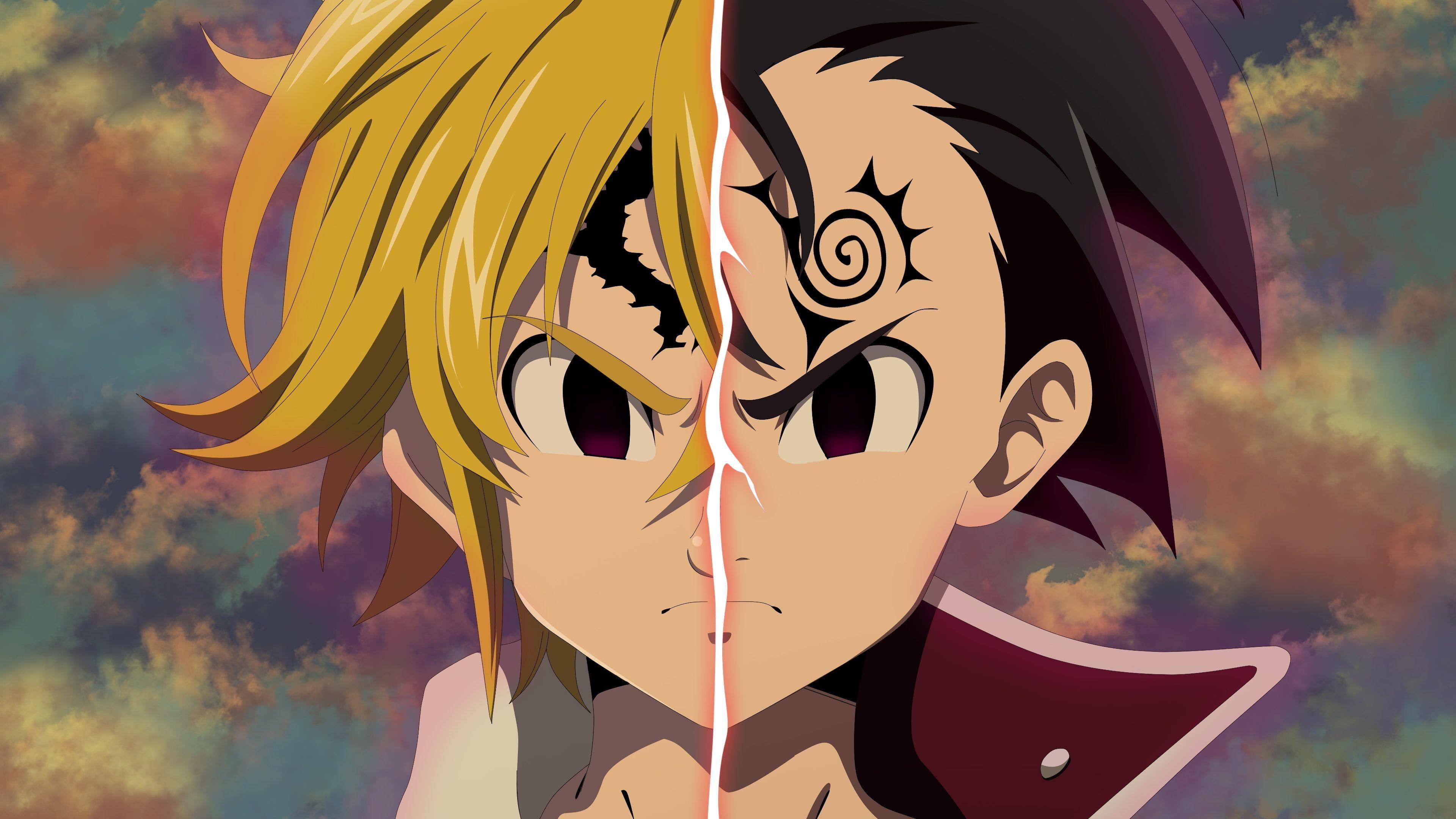 Download Wallpapers 4k Meliodas Warrior Manga The Seven Deadly Sins Nanatsu No Taizai Besthqwallpapers Com Seven Deadly Sins Anime Demon King Anime Seven Deadly Sins