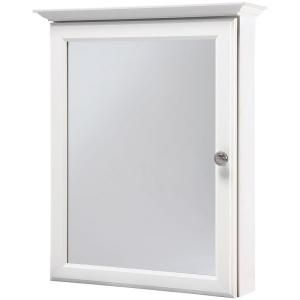 Fresh White Surface Mount Medicine Cabinet