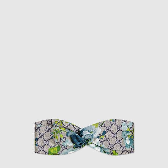 fe4bd41a22a Gucci GG Blooms print silk headband