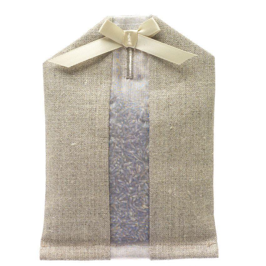 Lavender Hanger Sachet Ivory Linen Lavender Bags Lavender