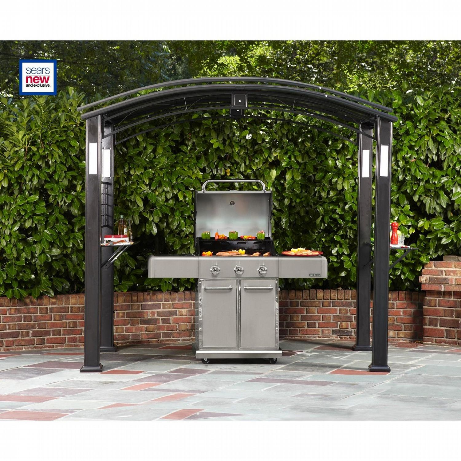 Grand Resort Grill Gazebo With Lights Grill Gazebo Grill Canopy Gazebo Replacement Canopy