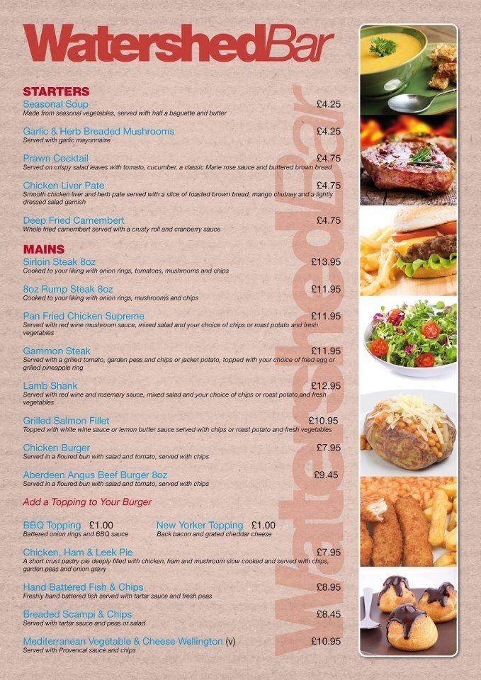 Superb single-page design for a restaurant menu We did the logo - restarunt brochure