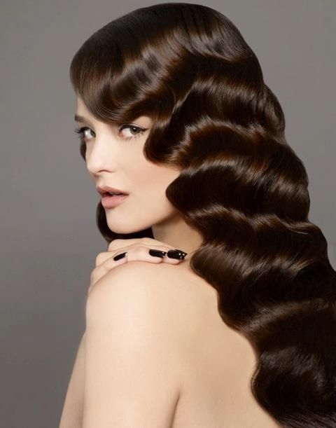 Retro Hairstyles For Women Long Finger Wave Hairstyle