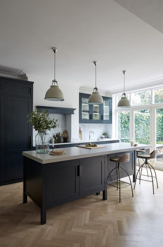 The BEST 50 BLACK KITCHENS you NEED to see! #greykitcheninterior