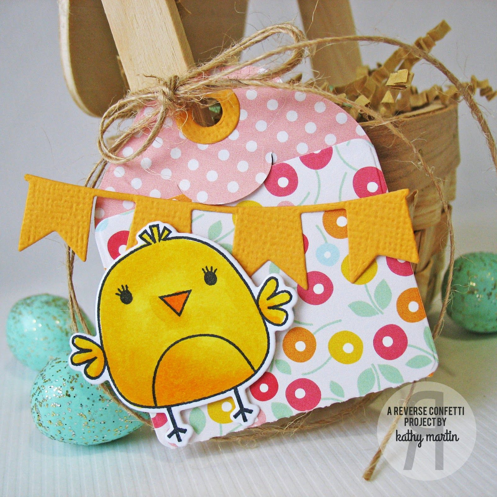 Mini easter basket gift by kathy martin for rc using the