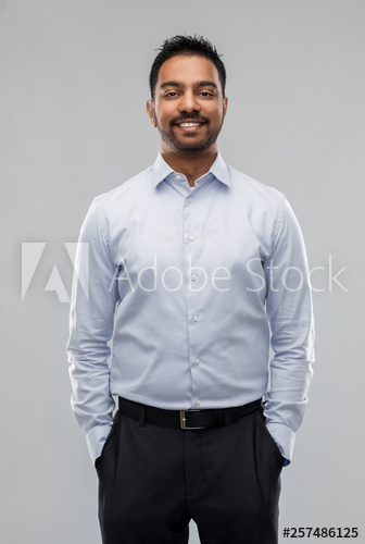 Business Office Worker And People Concept Smiling Indian Businessman In Shirt Over Grey Background Buy This Stock Phot Business Man Gray Background Shirts
