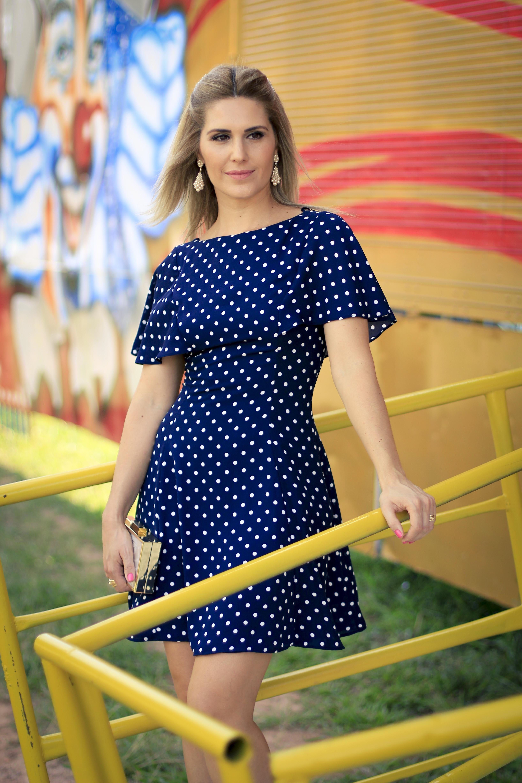150d82a72 Vestido de Bolinha-4 | dressing em 2019 | Dresses, Dress skirt e ...