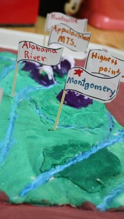 recipe and step by step instructions for salt dough maps | Earth Day ...