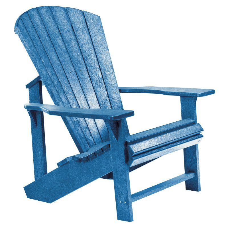 Outdoor CR Plastic Generations Adirondack Chair Blue - C01-03