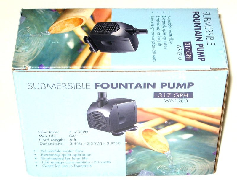 Bamboo Accents Replacement Pump Jebao Wp1200 Reliable And Ultra Quiet Mag Drive Submersible Pond Or Fountain Water Pump Eas Water Pumps Submersible Fountain