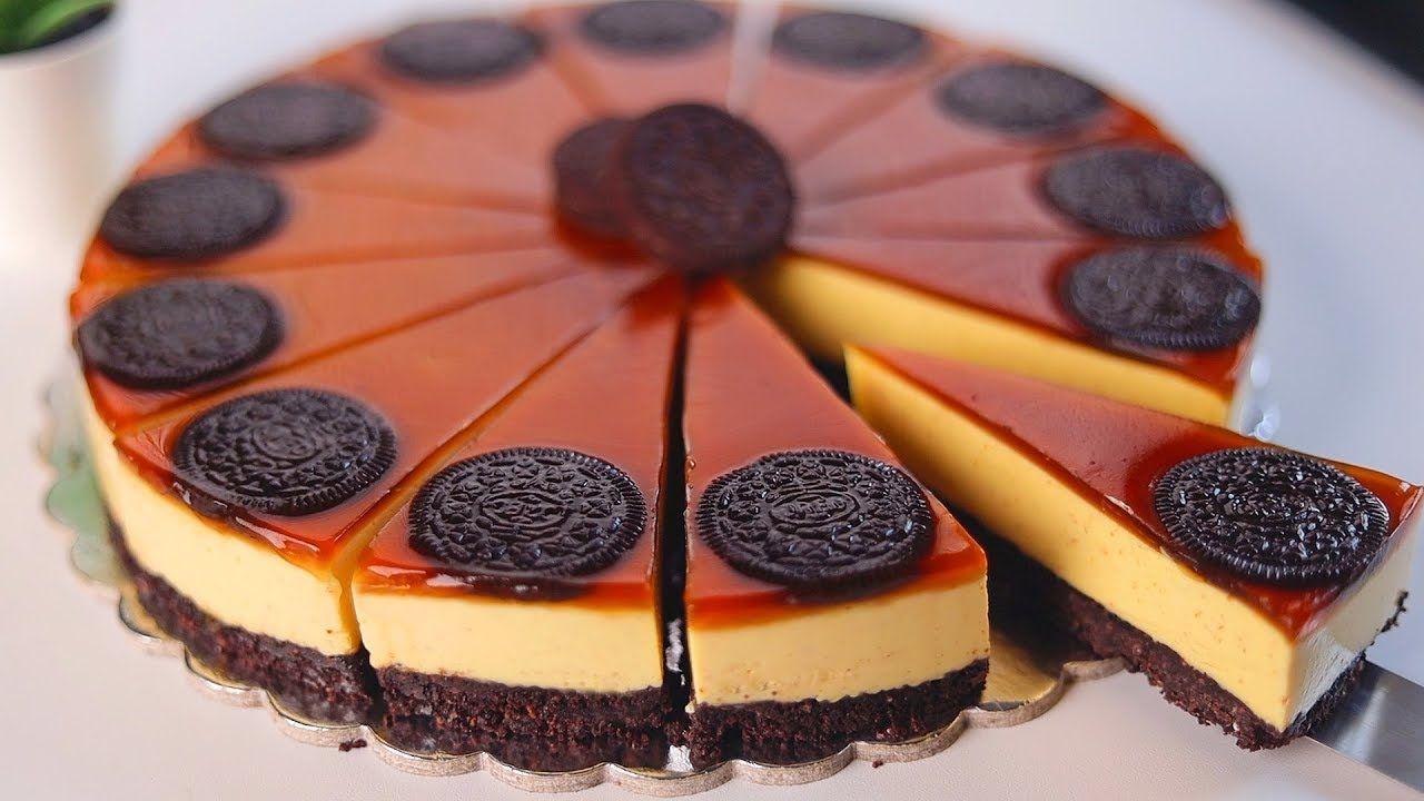 حلو الأوريو البارد بدون بيض بدون كريمه والطعم رائع لا يقاوم Dessert Recipes Cheesecake Chocolate Strawberry Cake