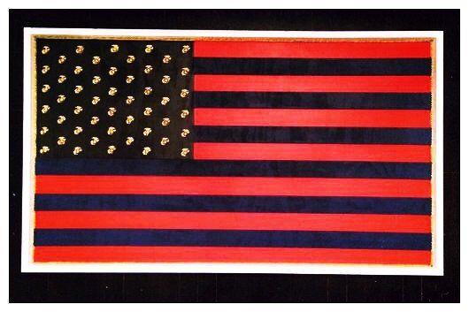 USMC United States Marine Corps Flag, Lindsay Wanner, St. Louis Artist
