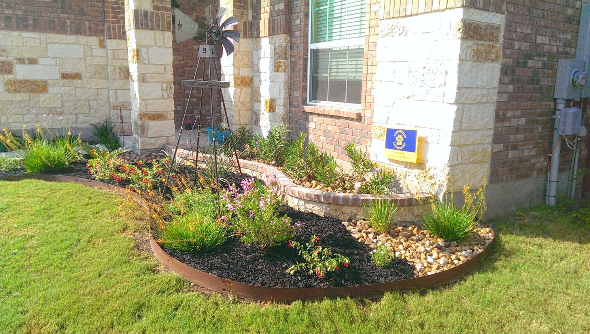 Front Yard Landscape - Multi-tiered beds. | Landscape ... on Tiered Yard Ideas  id=55569