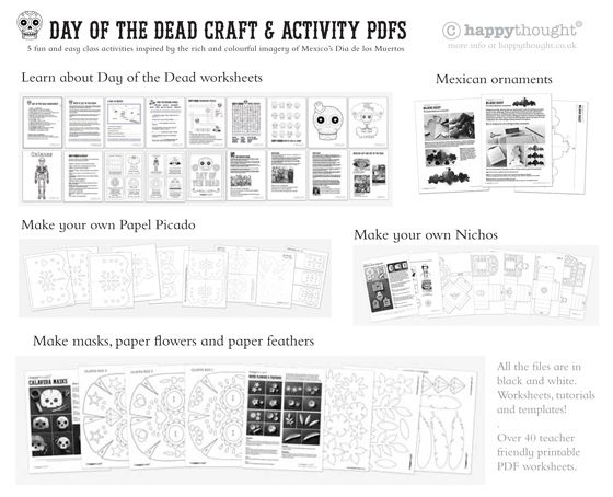 Print Day Of The Dead Worksheets In English And Espanol Fun
