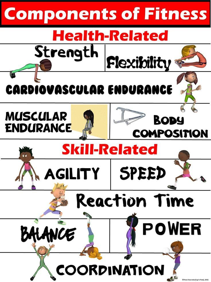 PE Poster Components of Fitness- Health and Skill-Related - components of fitness