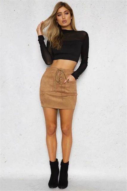 24 Fashionable Khaki Skirt Outfits To Flatter Your Figure