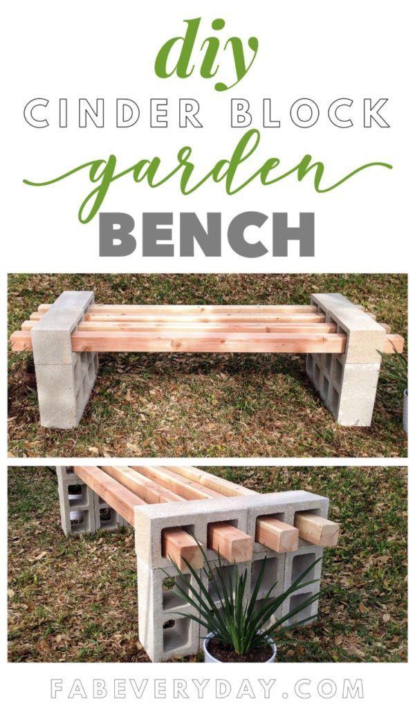 DIY Cinder Block Bench | Fab Everyday