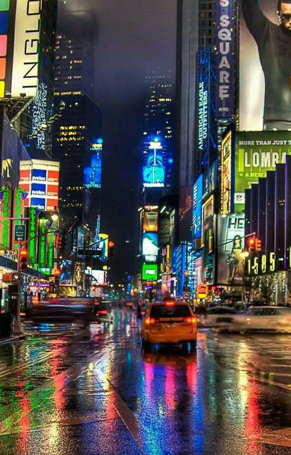 New York City Night New York City Nyc Times Square City Wallpaper