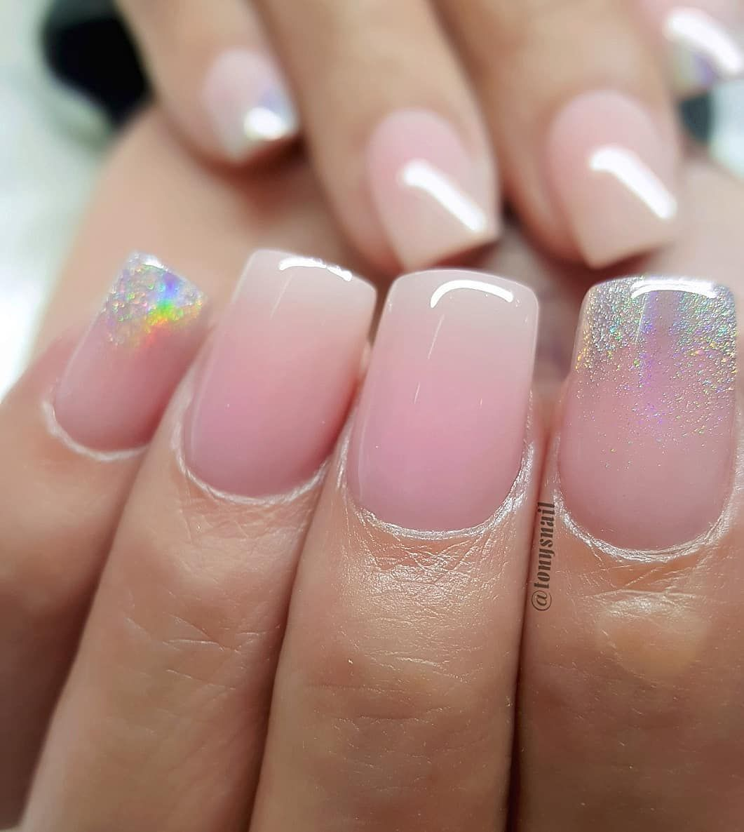 Short Nails Still Cute Acrylic Color Number 11 78 98 Available Today Www Designedbytonyly Com Red Ombre Nails Nail Designs Nails