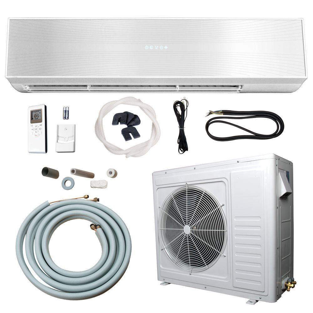 Ramsond 24 000 Btu 2 Ton Ductless Mini Split Air Conditioner And Heat Pump 220v 60hz 74gw2 The Home Depot Ductless Mini Split Ductless Heat Pump