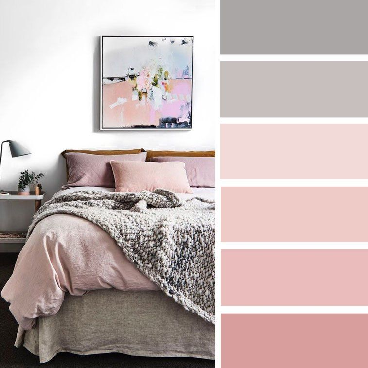11 Gorgeous Bedroom With Pink Accents Blush And Grey Color Scheme For Bedroom Bedroom Colorscheme Bedroom Color Schemes Gorgeous Bedrooms Bedroom Colors