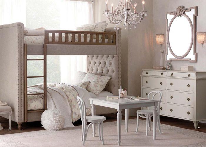 11 dormitorios rom nticos en tonos pastel para chicas for Cuartos para ninas literas