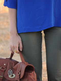 cobalt and olive green