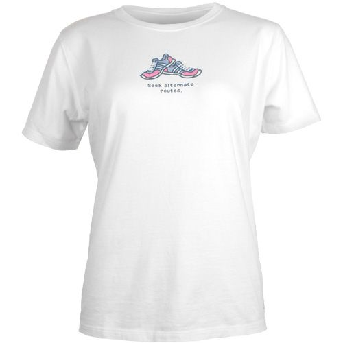 """Click Image Above To Buy: Life Is Good """"seek Alternate Routes"""" Crusher Tee: Life Is Good Women's Running Apparel"""
