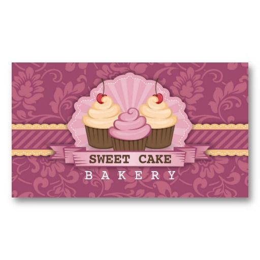 Cupcake bakery cute business card pinterest cupcake bakery cupcake bakery cute business card by wrkdesigns reheart Image collections