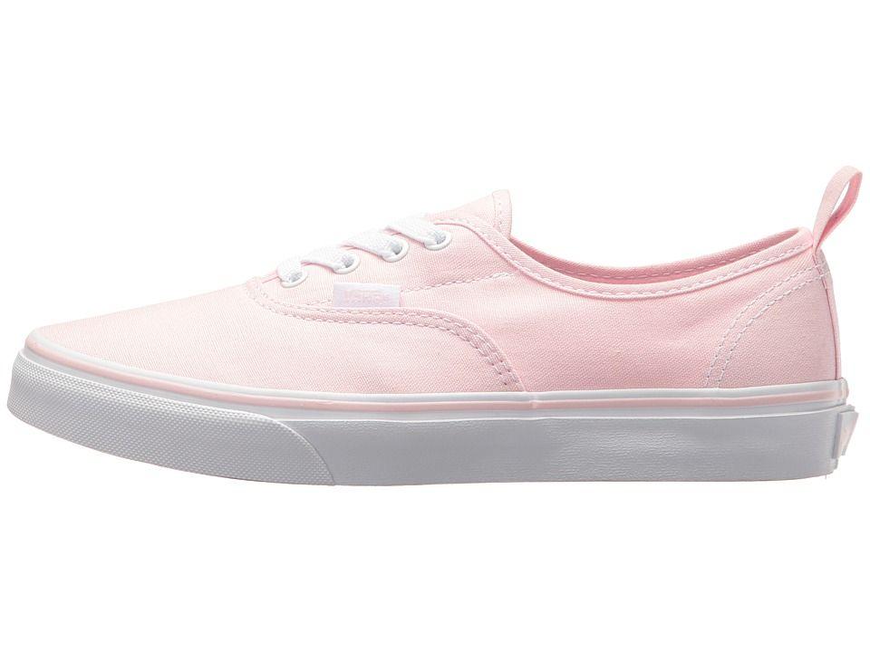 c6fcdd831f24 Vans Kids Authentic Elastic Lace (Little Kid Big Kid) Girls Shoes Chalk Pink True  White