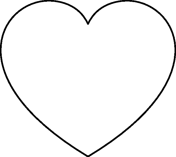 coloring pages heart shapes - photo#10