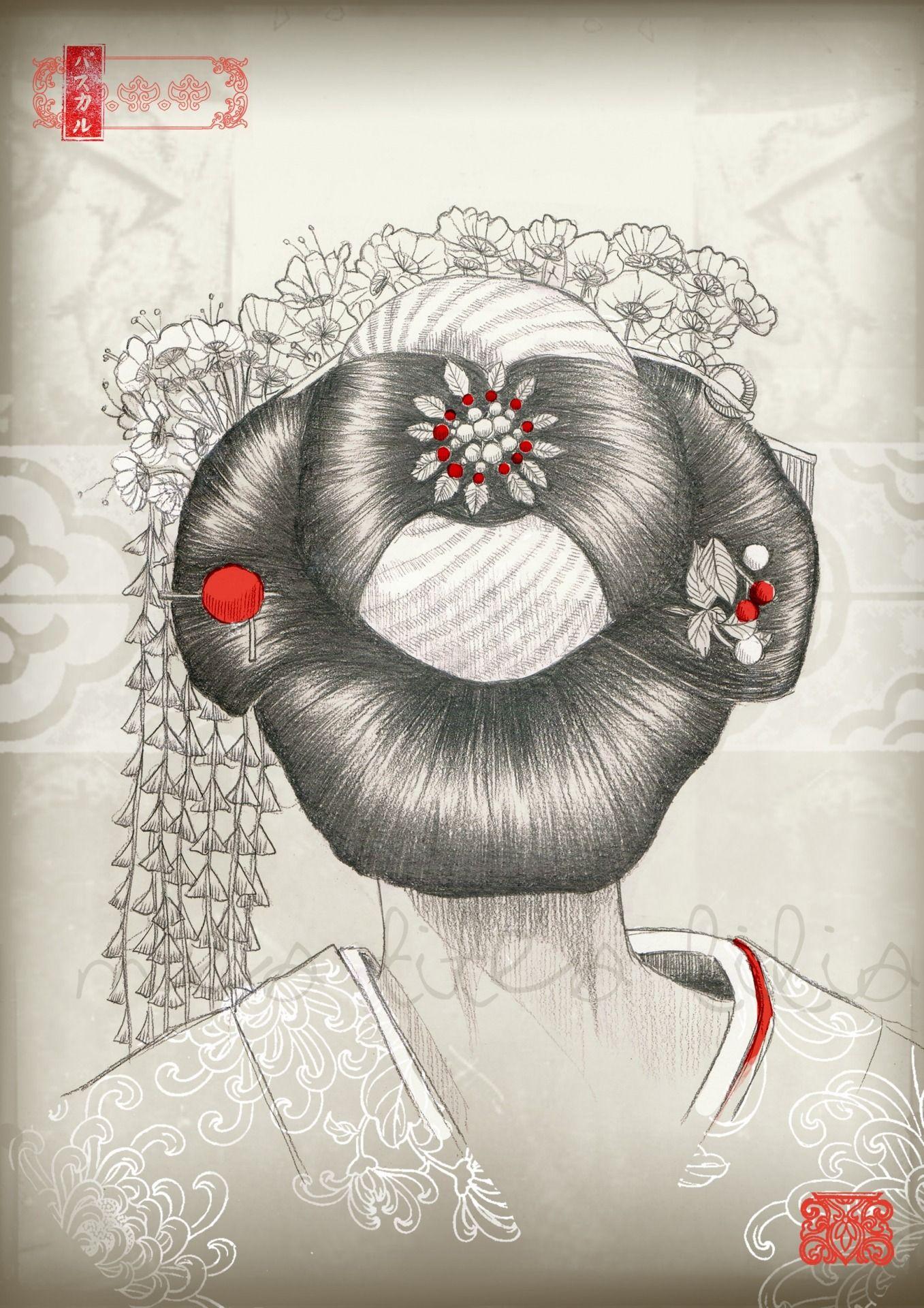 Geisha De Dos geisha de dos, shimada des maiko,par mes-tites-lilis | japon et asie