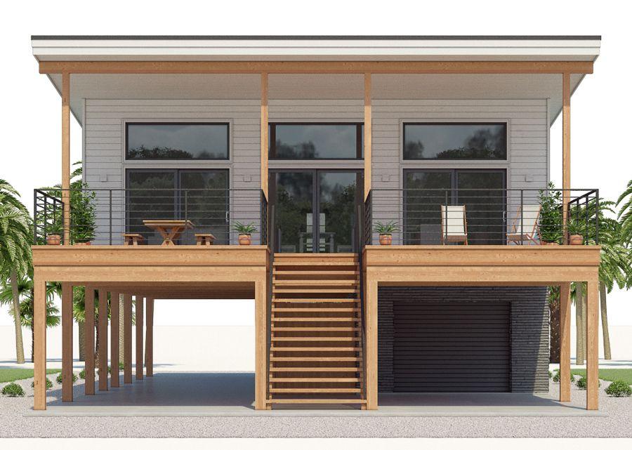 Coastal House Plans 001 House Plan 536ch 2 Jpg Carriage House Plans Coastal House Plans Stilt House Plans