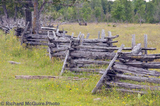 Snake Rail Fence Manitoulin Island Ontario Manitoulin Island
