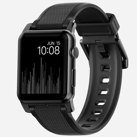 Nomad Nm1a41b000 Rugged Strap For Apple Watch 42Mm Black