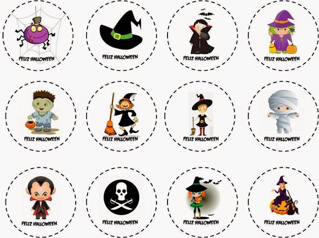 happy halloween free printable labels stickers or toppers free rh pinterest com
