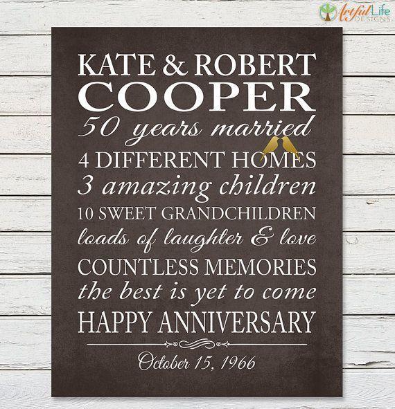 50th GOLDEN ANNIVERSARY Grandparents 50th Anniversary