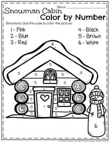 January Preschool Worksheets Preschool colors Number worksheets