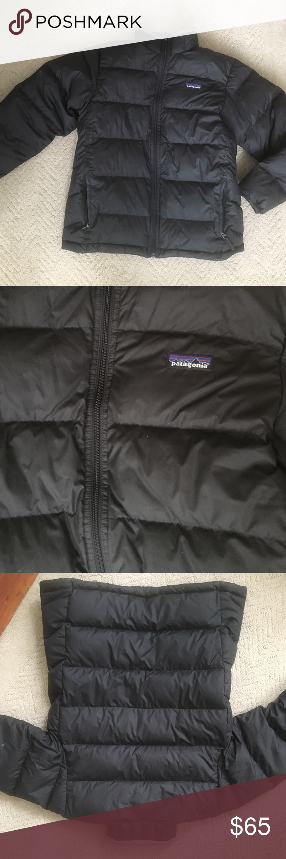 Patagonia XL Kids Black Jacket Jacket is perfect for the winter season! Is an XL in kids but can fit a women a size s/m. This jacket has no damage to it, has been worn a few times. Patagonia Jackets & Coats Puffers