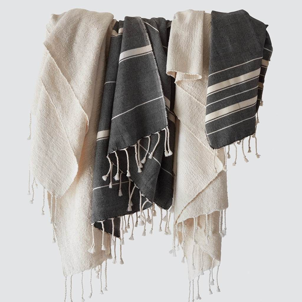 Sahar Towels Black Egyptian Cotton Towels Turkish Towels