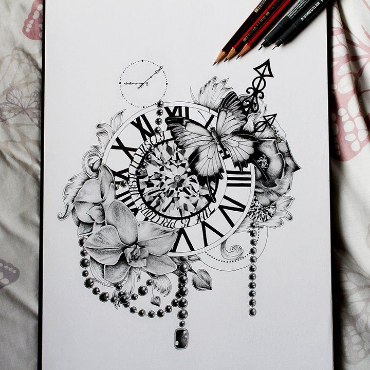 Image Of Time Is Precious Tattoos Beautiful Tattoos Clock Tattoo