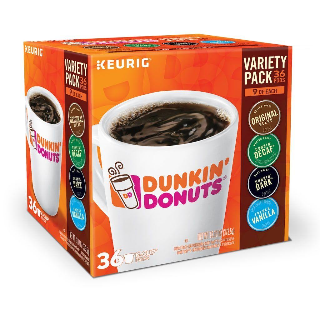 Dunkin' Donuts Variety Pack, Keurig KCup Pods 36pk