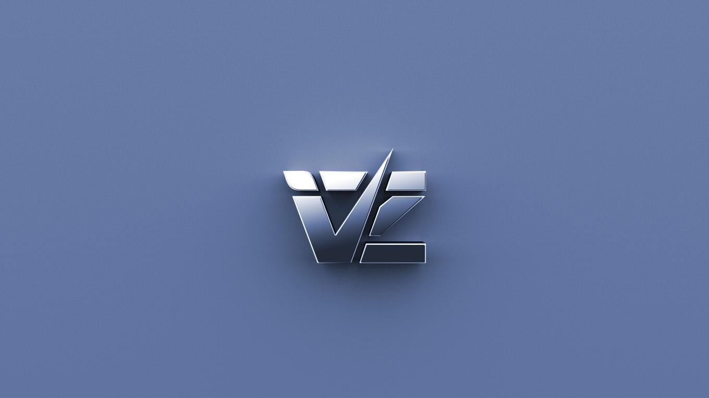 Logo vz - Adobe Illustrator + Adobe Photoshop + plugin 3D