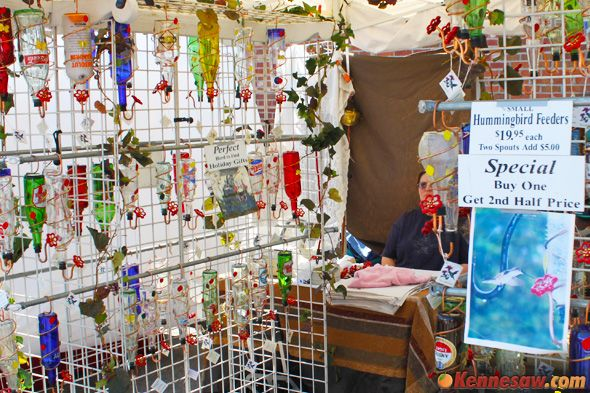Big Shanty Festival Crafts Vendors - hummingbird feeders