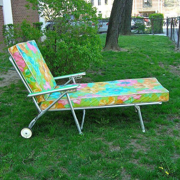 Reserved - 60s Chaise Lounge Classic Suburban
