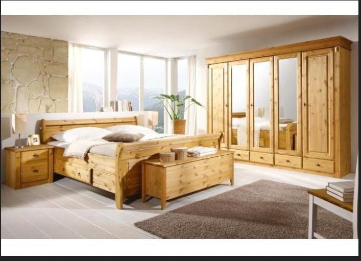 Porta schlafzimmer ein Bett aus Holz groß 1   Schlafzimmer ...