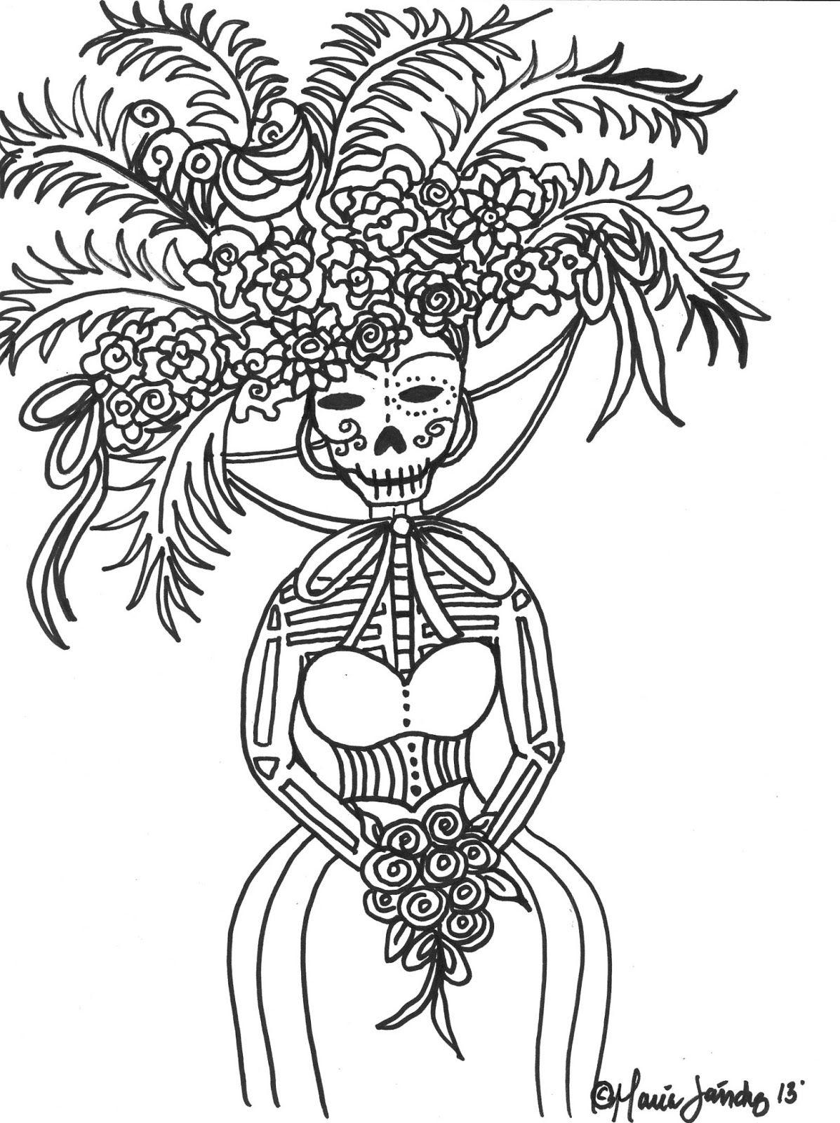 dia los muertos coloring sheets Yahoo Image Search Results Happy